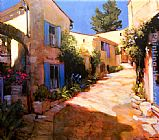 Philip Craig Village in Provence painting