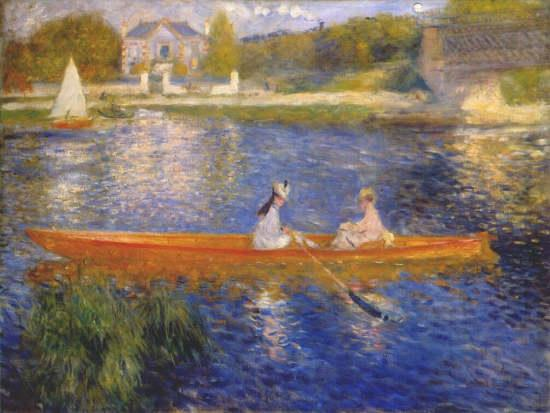 Pierre Auguste Renoir Banks of the Seine at Asnieres I