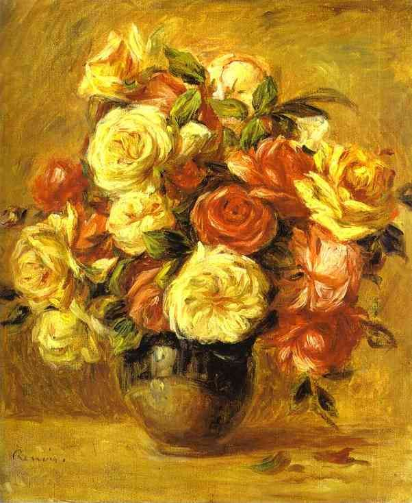 Pierre Auguste Renoir Bouquet of Roses (Bouquet de roses)