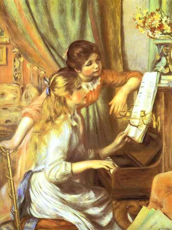 Pierre Auguste Renoir Girls at the Piano I