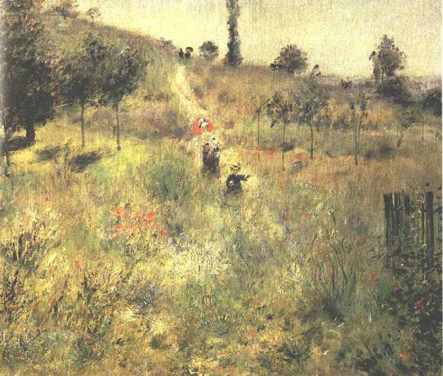 Pierre Auguste Renoir Path Climbing Through Long Grass