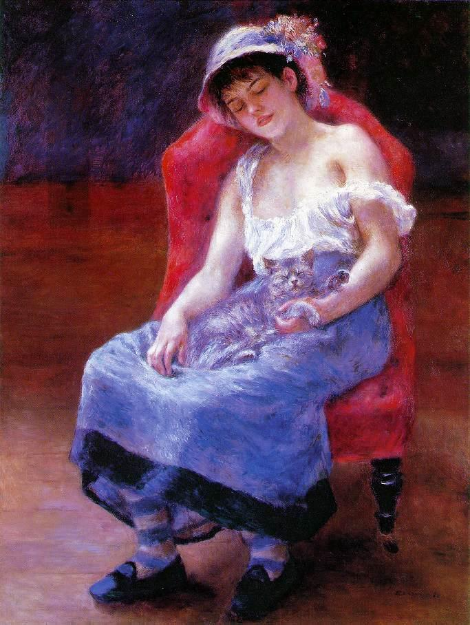 Pierre Auguste Renoir Sleeping Girl