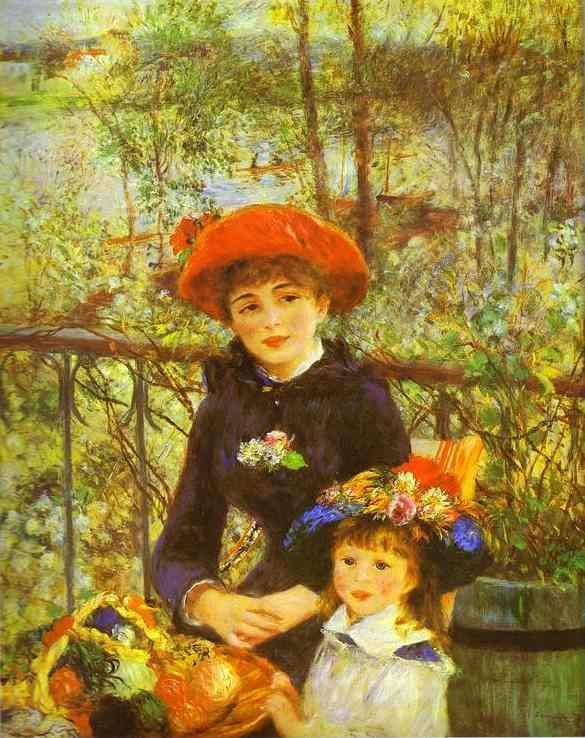 Pierre Auguste Renoir Two Sisters (On the Terrace)