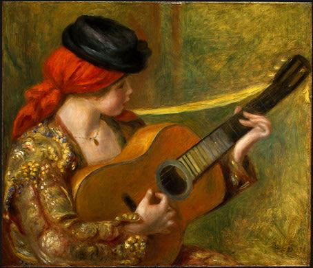 Pierre Auguste Renoir Young Spanish Woman with a Guitar