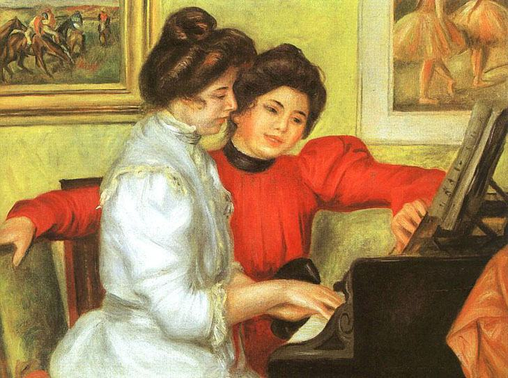 Pierre Auguste Renoir Yvonne and Christine Lerolle Playing the Piano