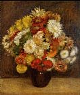 Pierre Auguste Renoir Wall Art - Bouquet Of Chrysanthemums i