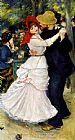 Pierre Auguste Renoir Famous Paintings - Dance at Bougival I
