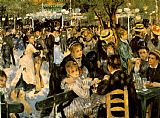 Pierre Auguste Renoir Famous Paintings - La Moulin de la Galette