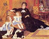 Famous Children Paintings - Madame Georges Charpentier and her Children, Georgette and Paul
