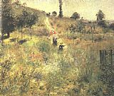 Famous Path Paintings - Path Climbing Through Long Grass