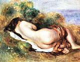 Pierre Auguste Renoir Famous Paintings - Reclining Nude