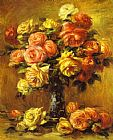 Famous Vase Paintings - Roses in a Vase