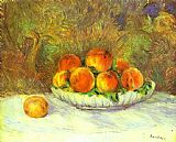 Pierre Auguste Renoir Still Life with Peaches painting
