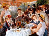 Pierre Auguste Renoir Famous Paintings - The Boating Party Lunch I