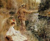 Pierre Auguste Renoir Wall Art - The Fisherman