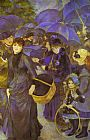 Pierre Auguste Renoir Famous Paintings - The Umbrellas