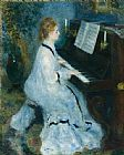 Pierre Auguste Renoir Woman at the Piano painting
