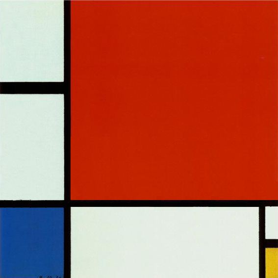 Piet Mondrian Composition with Red Blue Yellow 2
