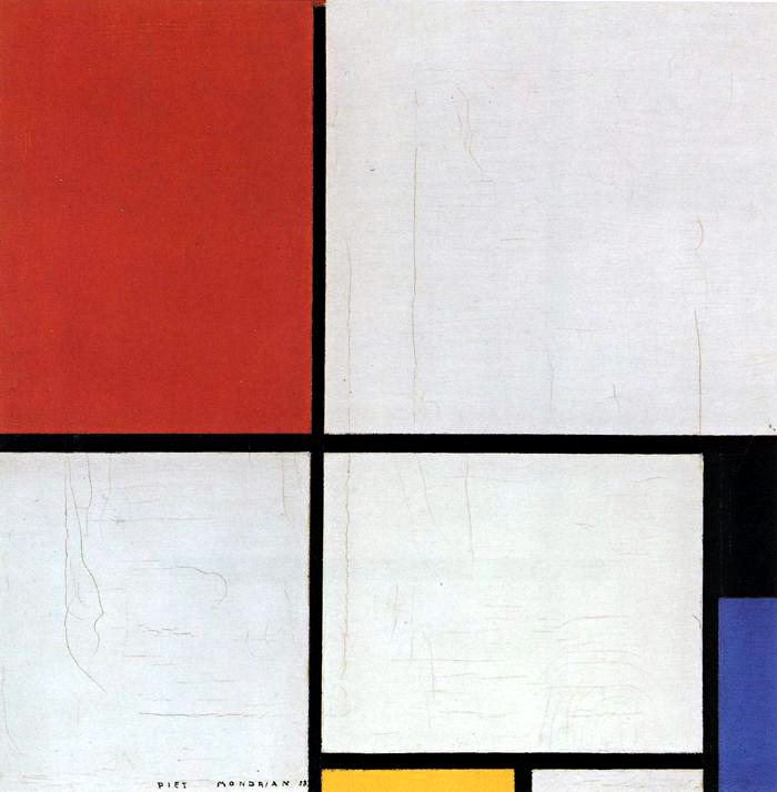 Piet Mondrian Composition with Red Blue Yellow