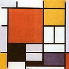 Piet Mondrian Composition with Red Yellow painting