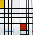 Piet Mondrian Composition with Yellow Blue and Red painting