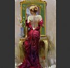 Pino Canvas Paintings - Elegant Seduction
