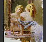 Pino Canvas Paintings - Morning Reflections