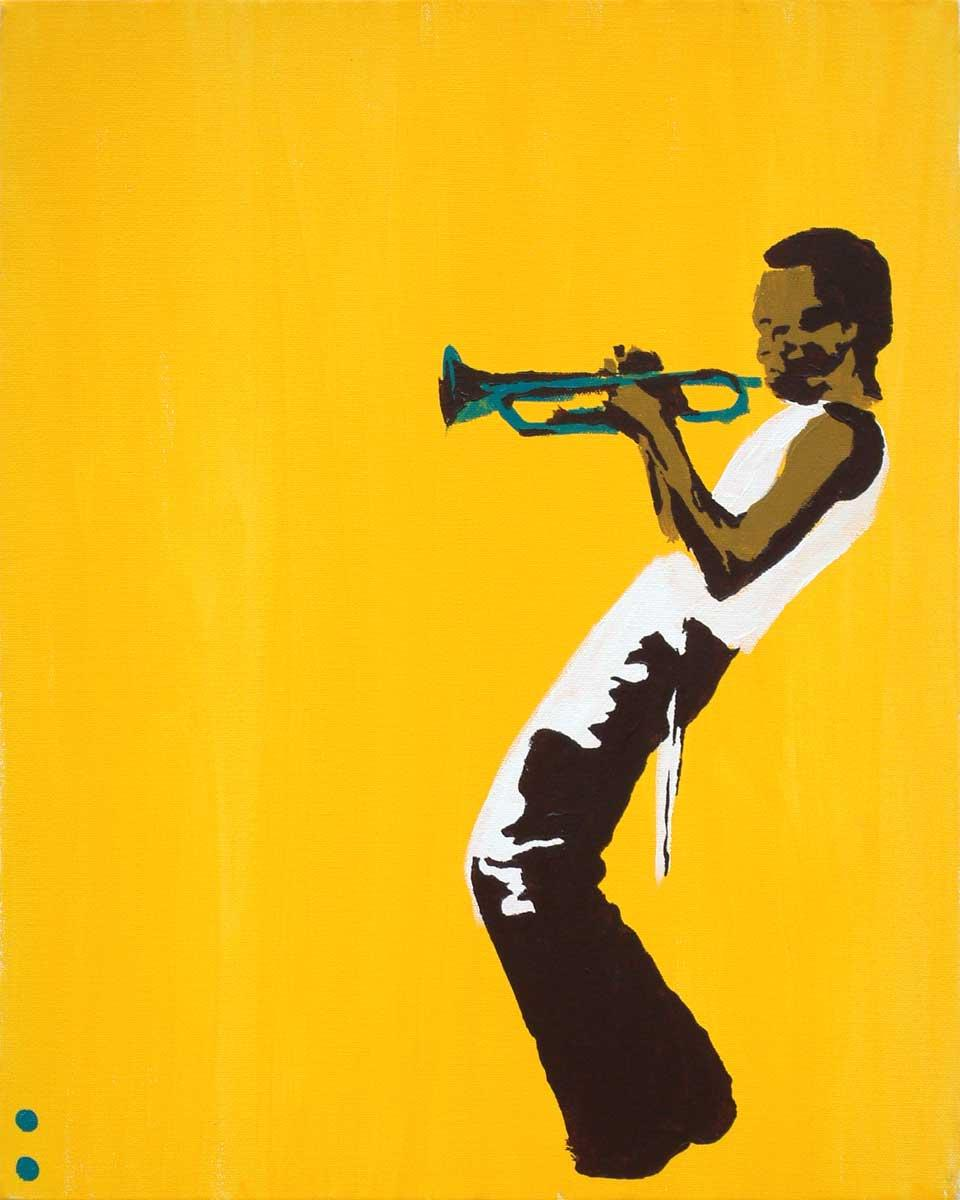 Pop art miles on yellow