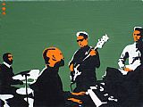 Pop art - booker t & the mgs on green