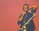 Pop art - coltrane on rust