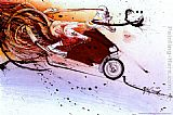 Ralph Steadman Art - Hunter on Ducati