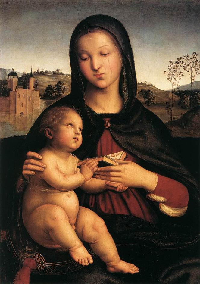 Raphael Madonna and Child with Book