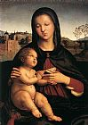 Madonna Canvas Paintings - Madonna and Child with Book