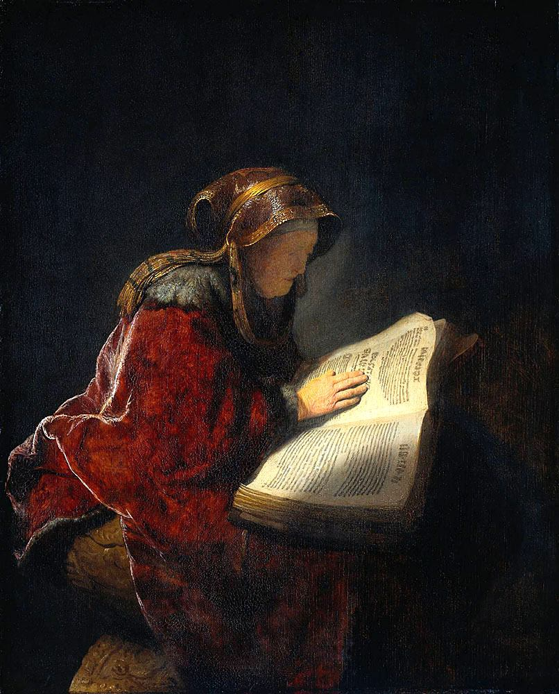Rembrandt Rembrandt's Mother The Prophetess Anna