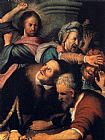 Christ Canvas Paintings - Christ Driving The Money Changers From The Temple