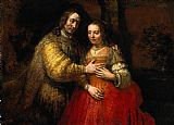 Rembrandt The Jewish Bride painting