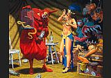 Robert Williams In the Pavillion of The Red Clown painting