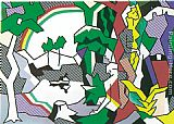 Figures Wall Art - Landscape with Figures, 1980
