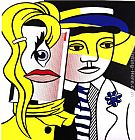 Roy Lichtenstein Stepping Out painting