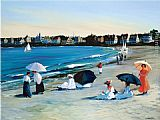 Sally Caldwell-Fisher - Beach Umbrellas