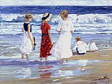 Sally Swatland By the Sea painting