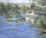 Sally Swatland Pond at Riversville Road painting