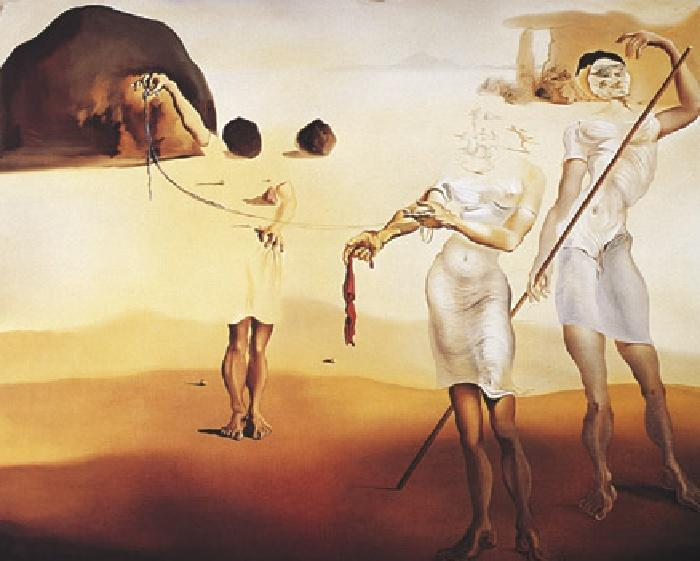 Salvador Dali Enchanted Beach with Three Fluid Graces