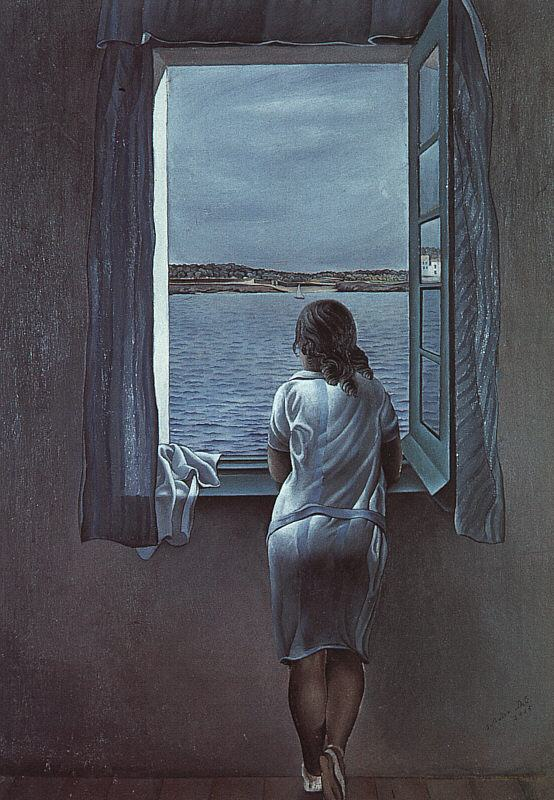 Salvador Dali Figure at a Window