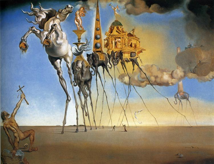 Salvador Dali The Temptation of St. Anthony