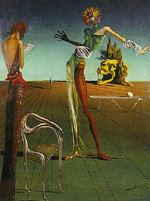 Salvador Dali Woman With Head of Roses