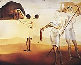 Salvador Dali Canvas Paintings - Enchanted Beach with Three Fluid Graces