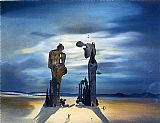 Salvador Dali Reminescence Archeologique de I'Angelus de Millet painting