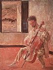Salvador Dali The Cellist Ricardo Pichot painting