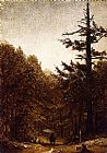 Sanford Robinson Gifford Canvas Paintings - A Forest Road